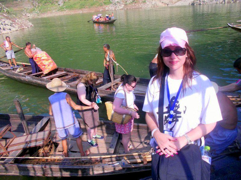 Andi during teacher travel in China.