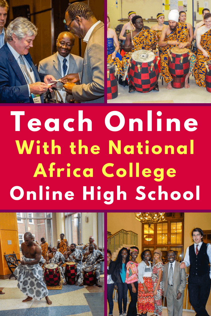Want to volunteer or teach at an online high school based in West Africa? Learn about the National Africa College Online High School (NACOHS) created by world-traveling Ghanaian professor, Prince Obiri-Mainoo!