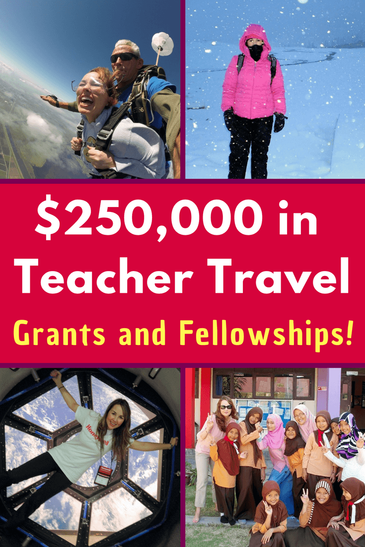 Want teacher travel grants and fellowships? Learn the secrets from this educator who has earned over a quarter of a million dollars in educational travel!