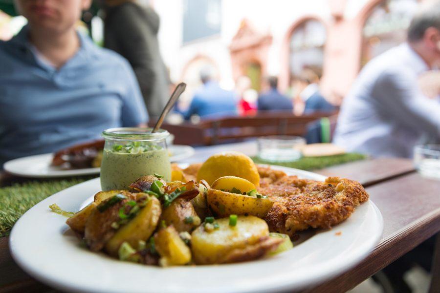 Some classic German Schnitzel.