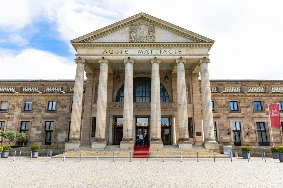 The gorgeous Kurhaus in Wiesbaden.