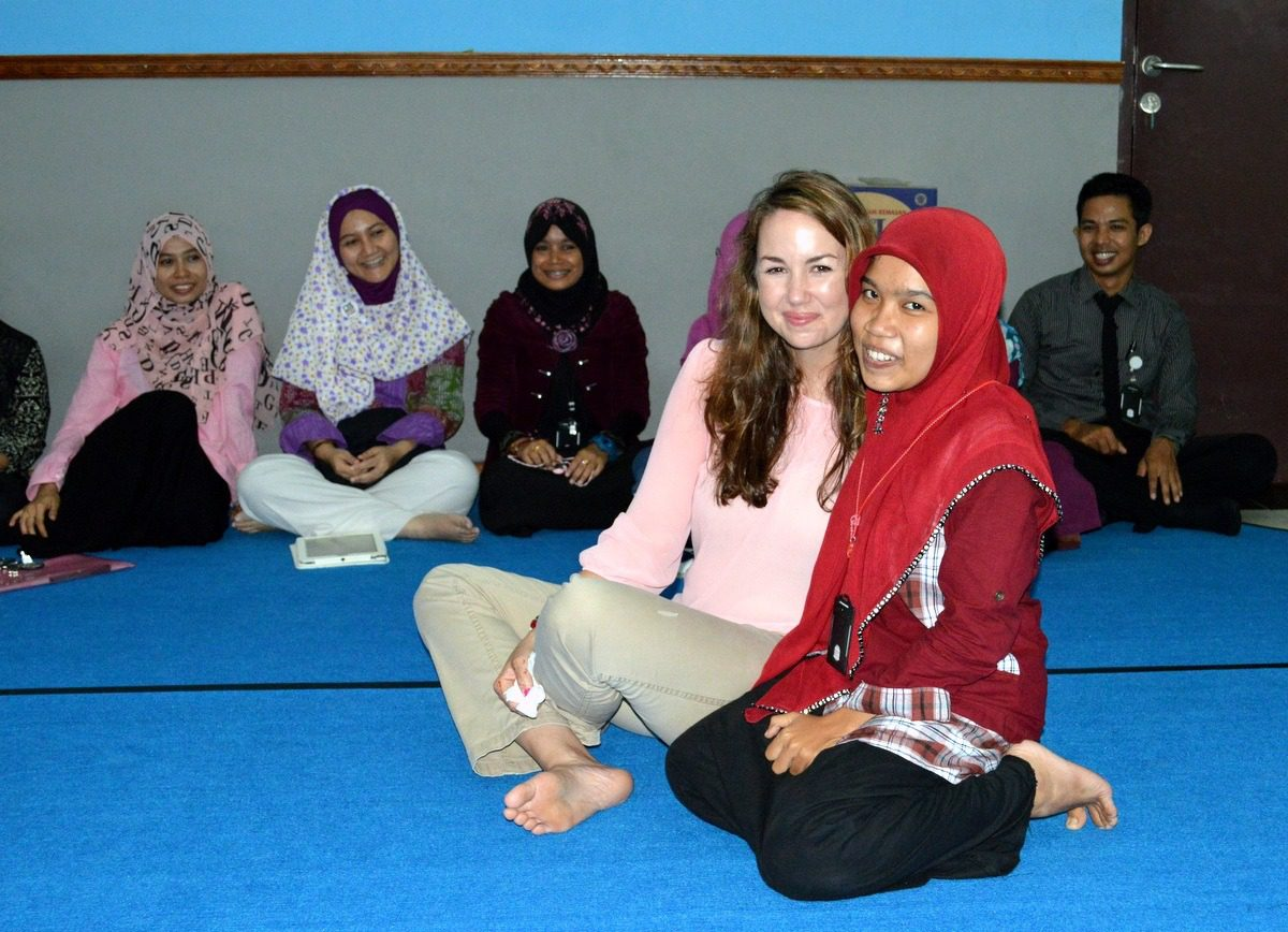 During teacher travel in Indonesia.