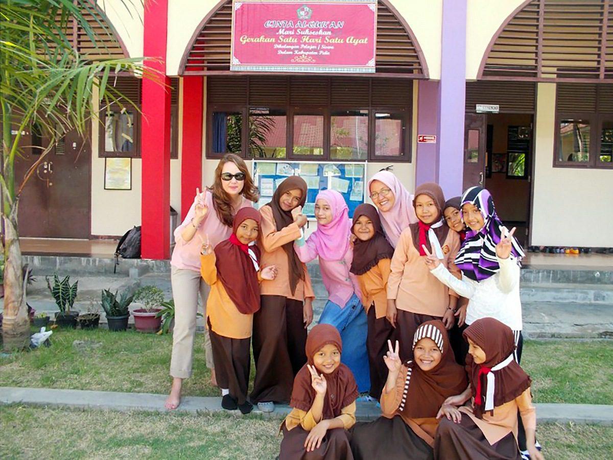 Andi in Indonesia at Sekolah Sukma Bangsa.