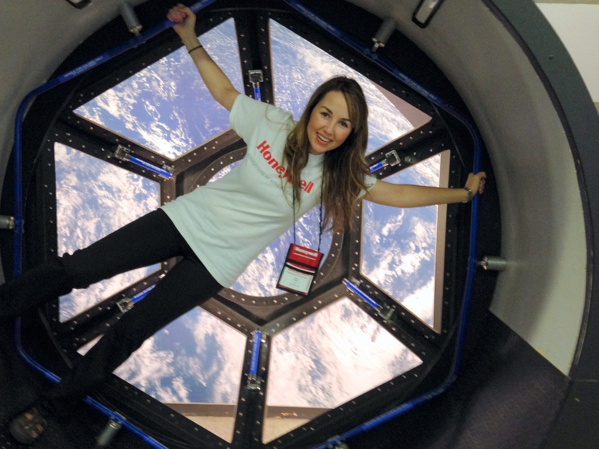 """Andi at the """"Educators in Space"""" fellowship at Space Academy."""
