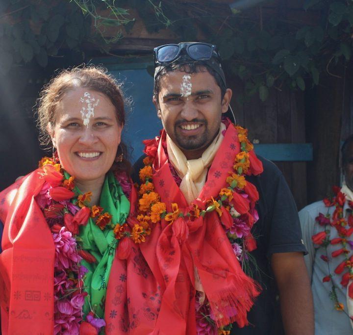 Bibek and Natasha in Nepal.
