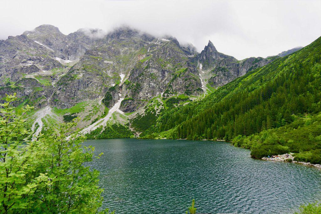 Morskie Oko: a lake in Poland.