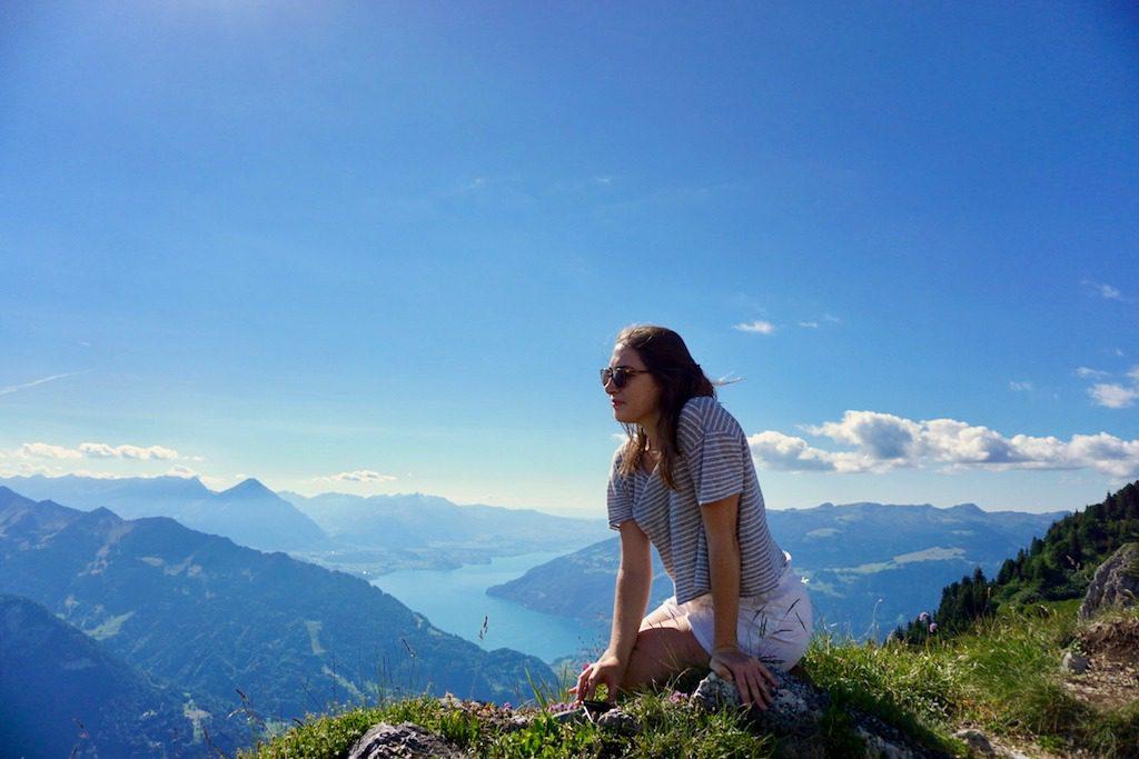 Allison in Interlaken, Switzerland.
