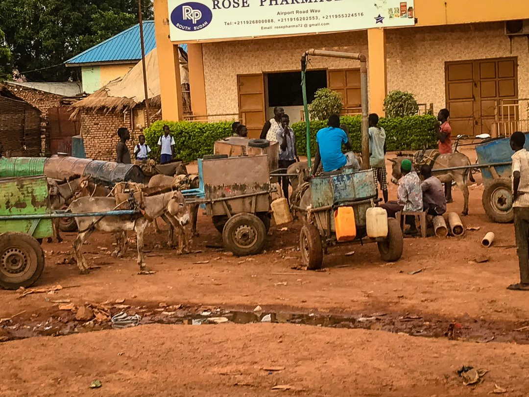 A water station in downtown Wau.