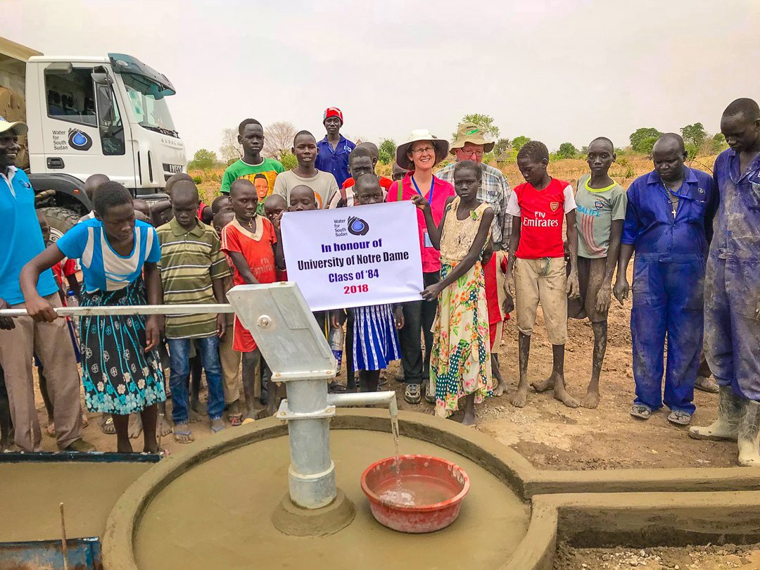 A completed water well in South Sudan!