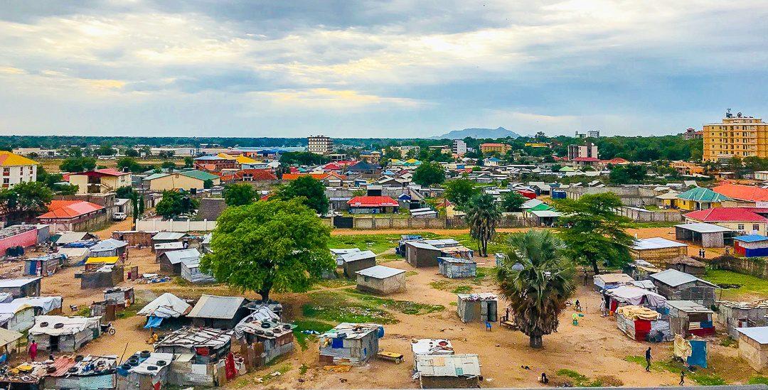 Homes in downtown Juba, South Sudan.