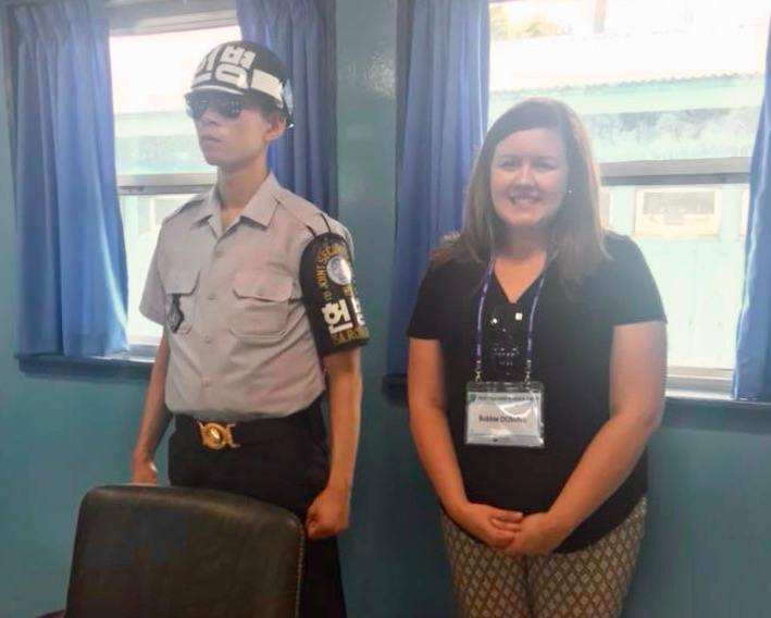 Standing in the DMZ Meeting Room.
