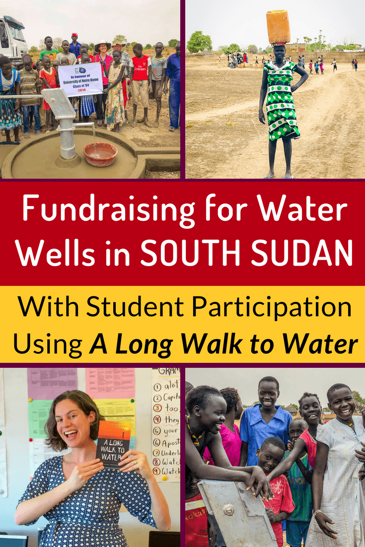 One of the best books to read with middle school students isA Long Walk to Water, the story of Salva Dut who founded Water for South Sudan. Interview and photos of the wells here. #Teaching #Fundraising #Education #Students #MiddleSchool