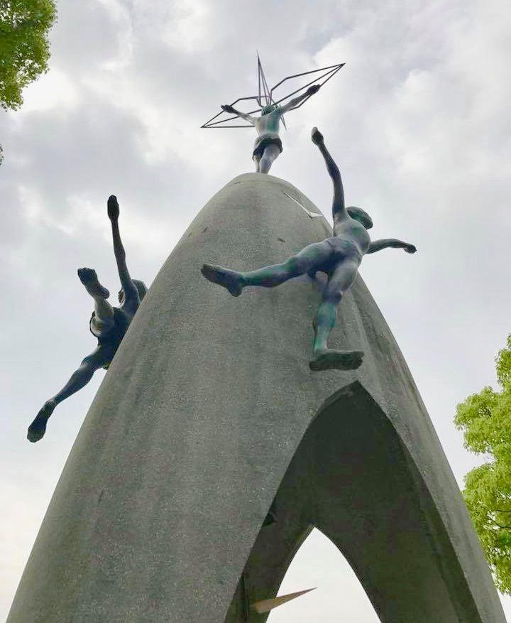 The Sadako monument at the Hiroshima Peace Park in Japan.