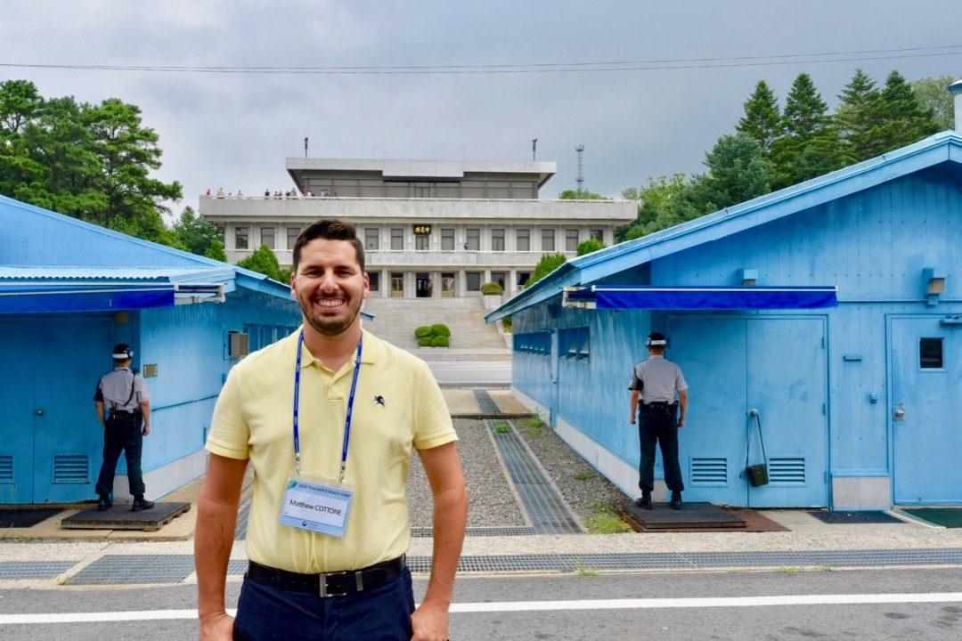 Visiting Korea's DMZ.