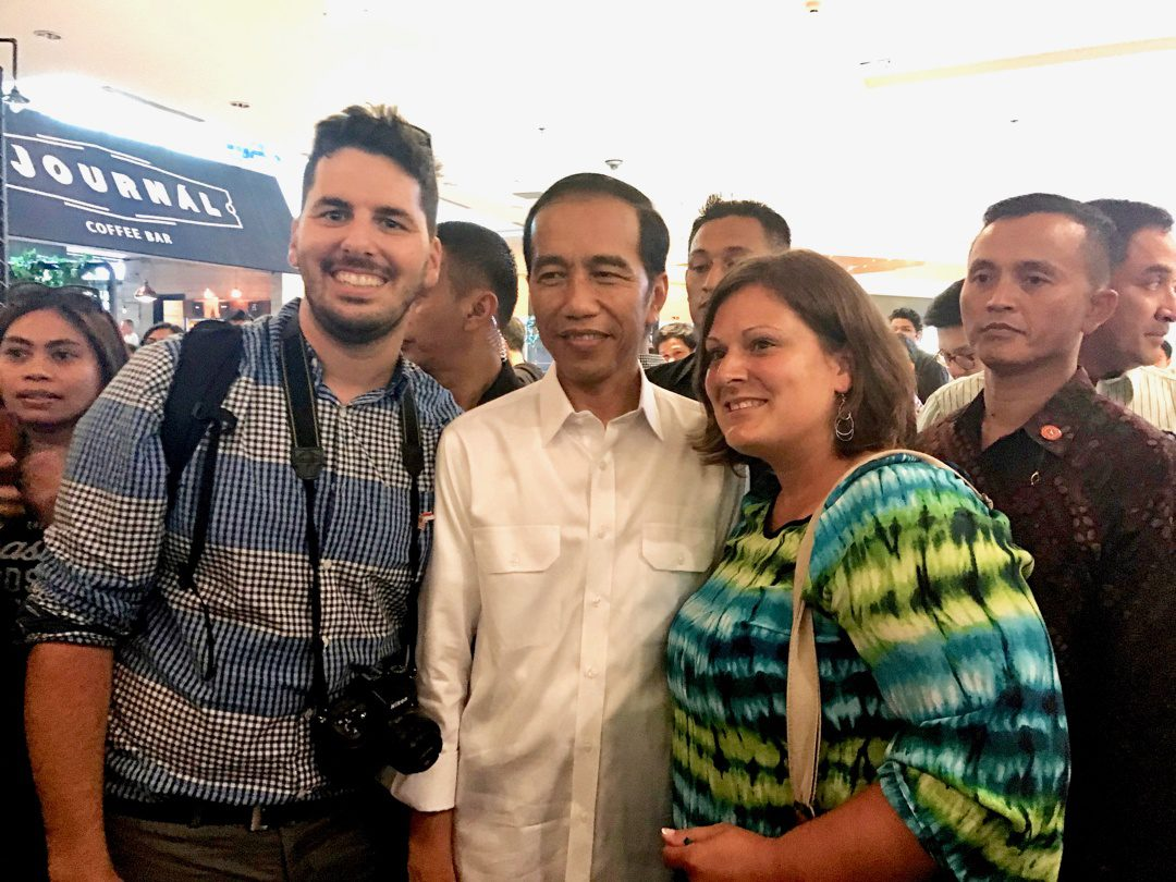 Matt with the president of Indonesia!