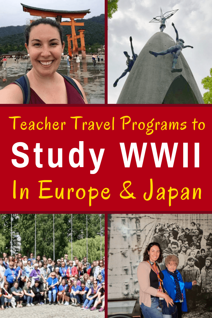Teacher travel programs to study WWII and the Holocaust in Poland, Europe and Japan, including grants and tips on how to fund educational trips. #TeacherTravel #WWII #History #Teachers #Teaching #GlobalEducation #Education #GlobalEd #Poland