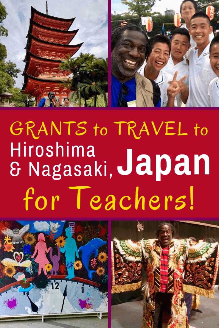 Amazing teacher travel grant program to Japan: The Oleander Initiative is a funded educational tour to Nagasaki and Hiroshima to study history.