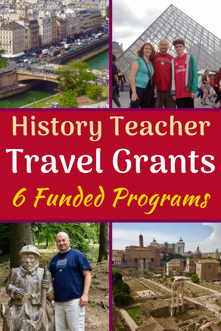 Teacher travel grants for History and Social Studies educators: 6 funded global education programs! #History #SocialStudies #WWI #WWII #Teaching #Teachers #Travel #TeacherTravel #travelgrants #education #globaled