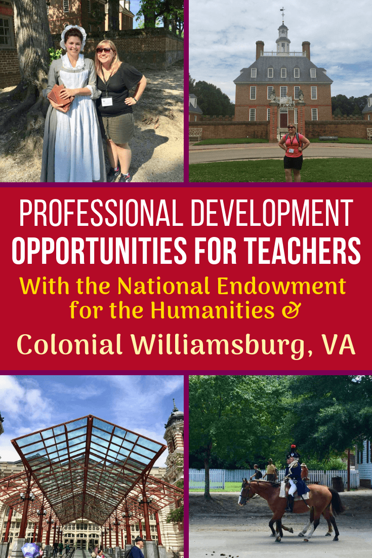 Colonial Williamsburg, VA and the NEH offer great teacher professional development travel opportunities with these funded programs! Share with any educators!