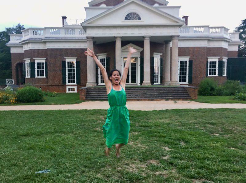 Lisa Quon Heinsen at the Barringer Monticello Summer Teacher Institute.
