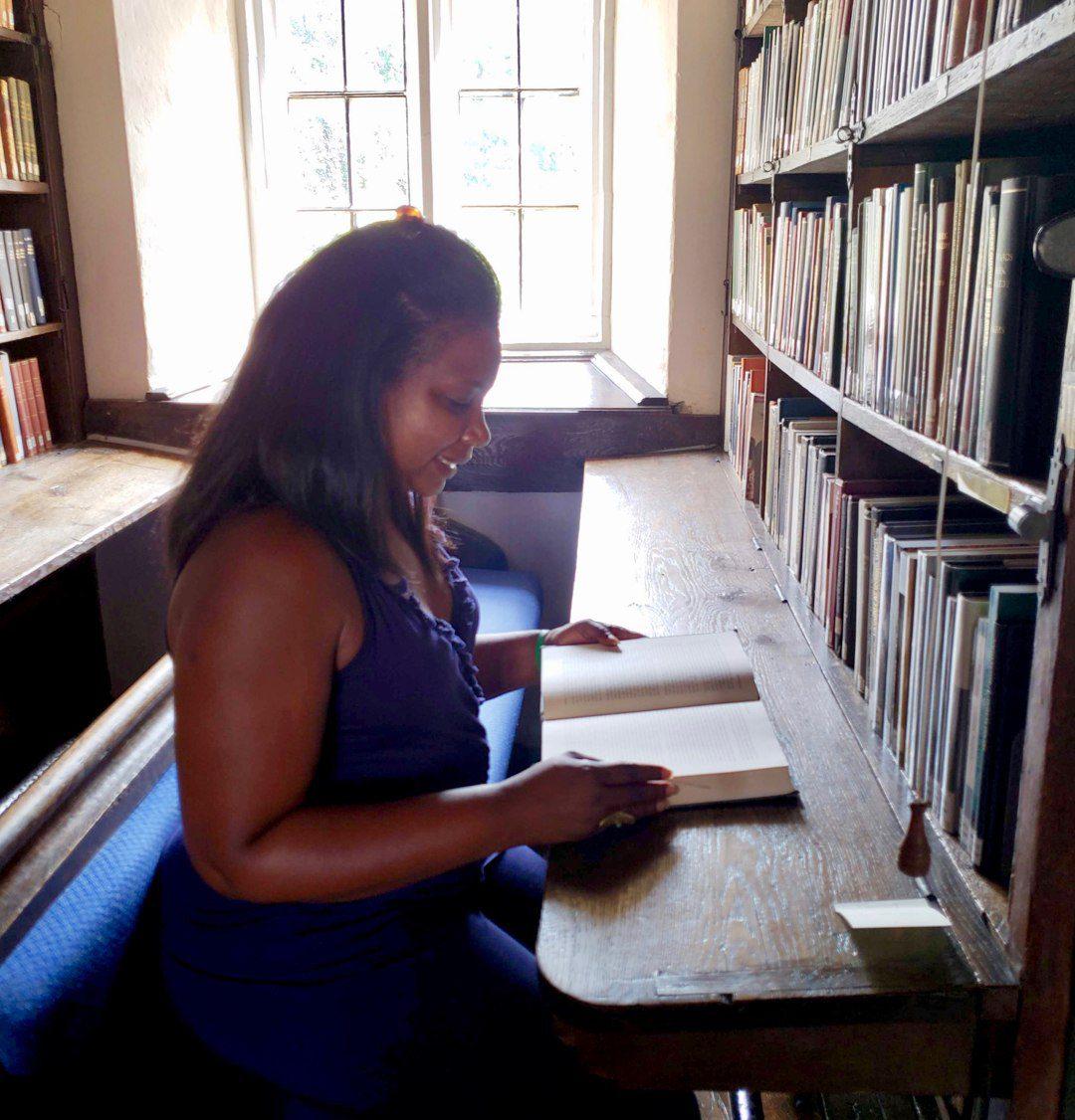 Keisha Rembert at a Gilder Lehrman institute focusing on Abraham Lincoln at Oxford University.