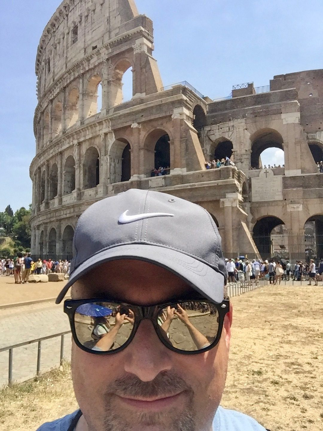 Teacher travel grants for History and Social Studies educators: 6 funded global education programs! In front of the Colosseum in Rome, Italy.