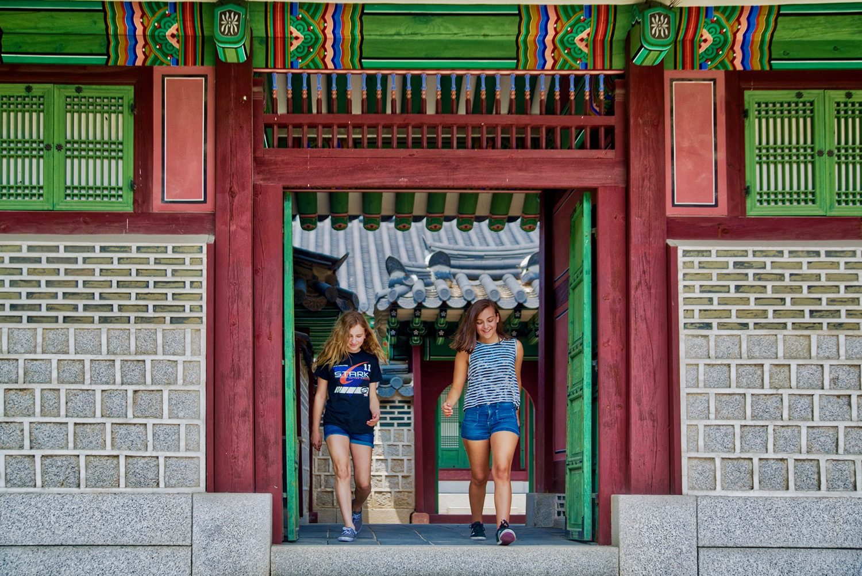 Family travel in Seoul, Korea for multicultural education