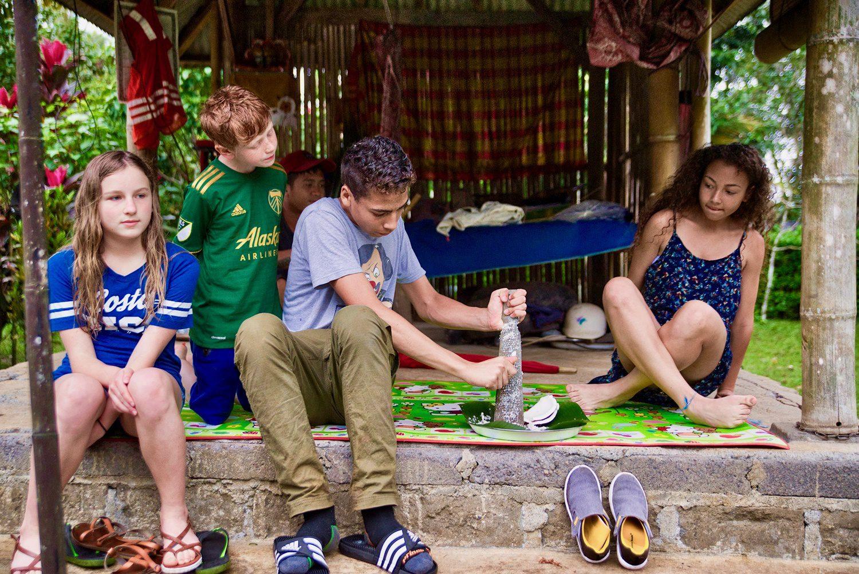 Making coconut oil in Bali, Indonesia.