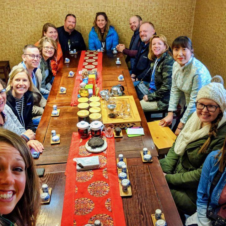 Enjoying a Beijing tea tasting with EF Tours