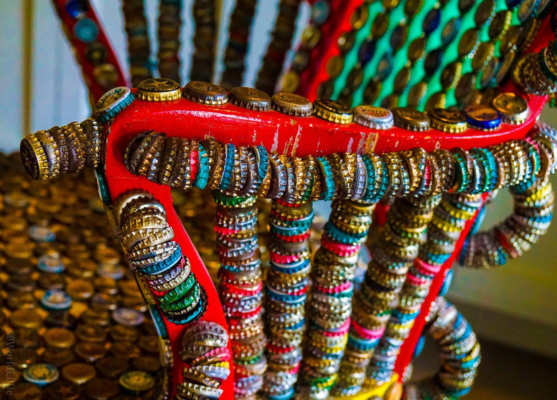 Red Lion Inn bottle cap chair