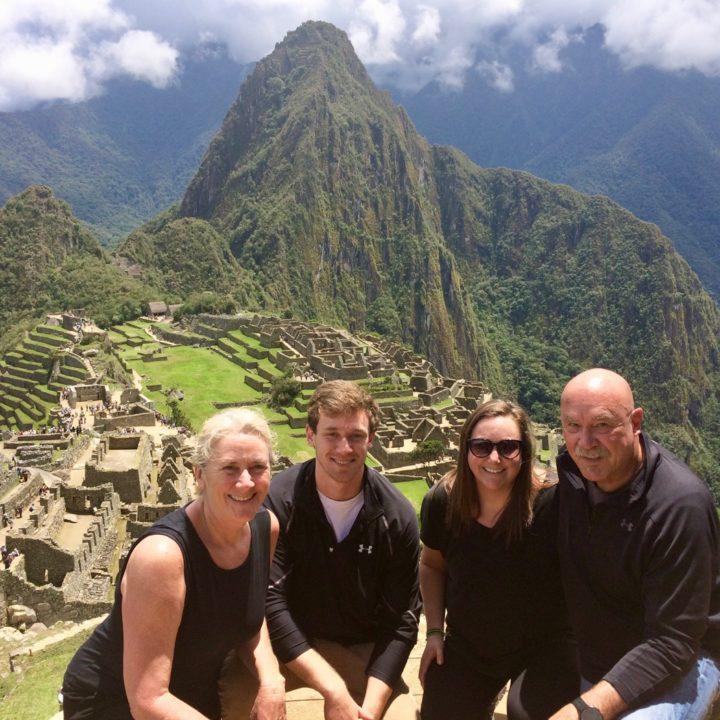 Global travel expert Peggy at Machu Picchu in Peru.