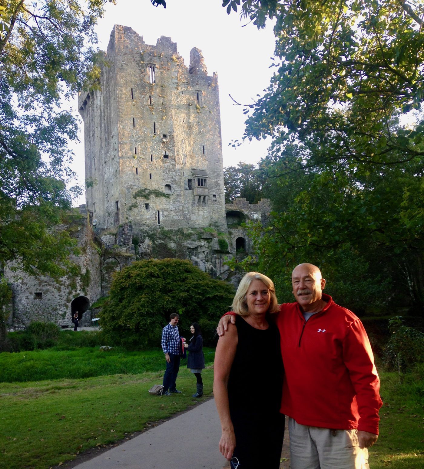 The global travel expert at Blarney Castle, Ireland.