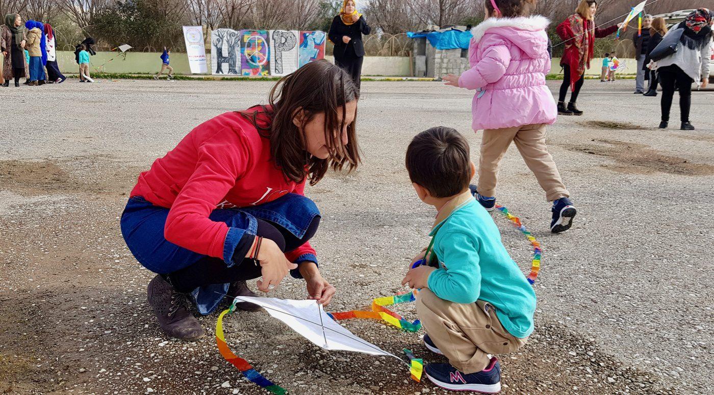 Sharing hope and kites in Halabja, Kurdistan/Iraq.