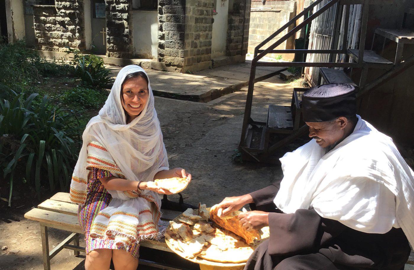 Humbasha bread in Addis Ababa, Ethiopia.