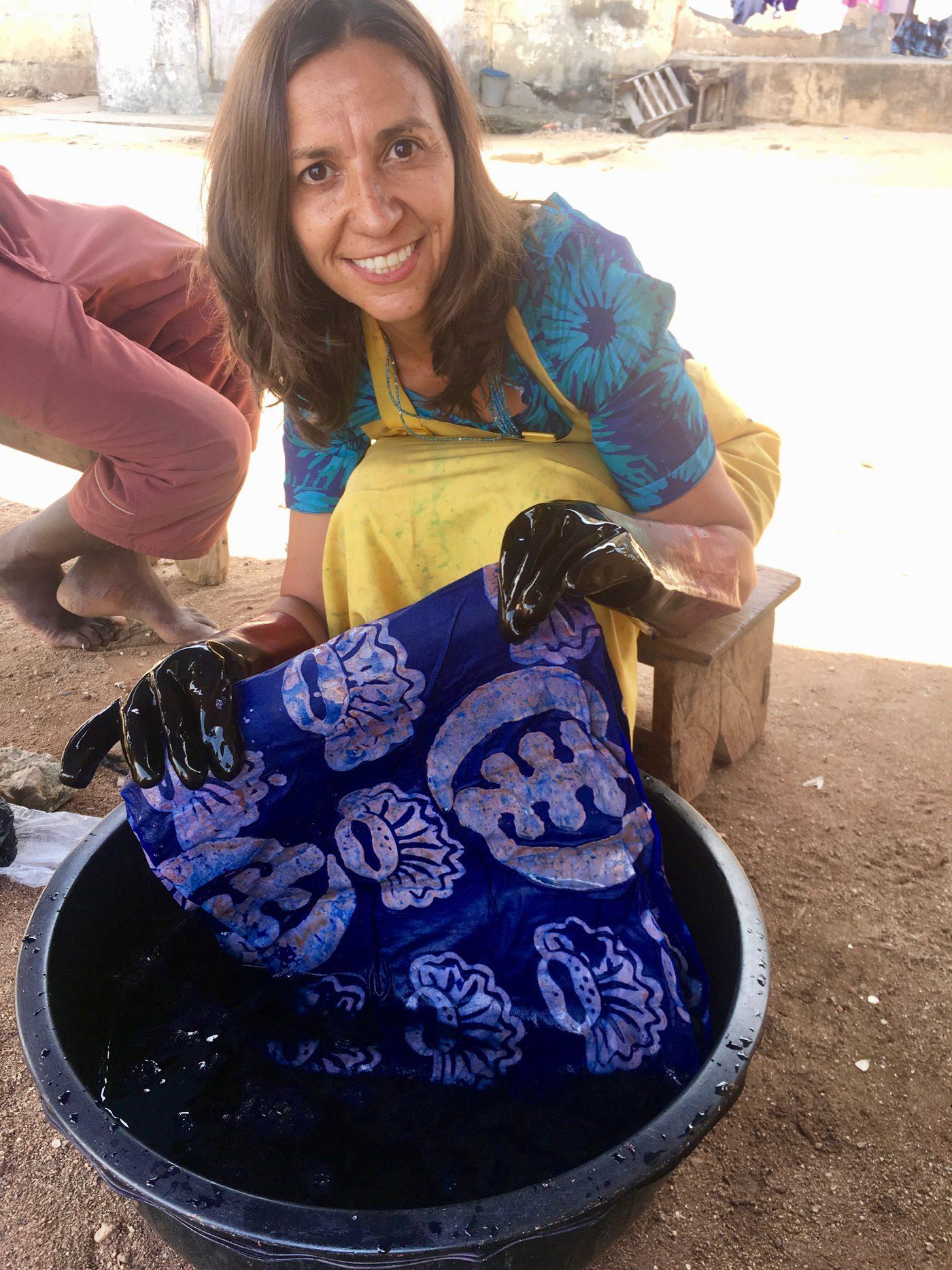 Learning to make Global Mamas batik in Cape Coast, Ghana.