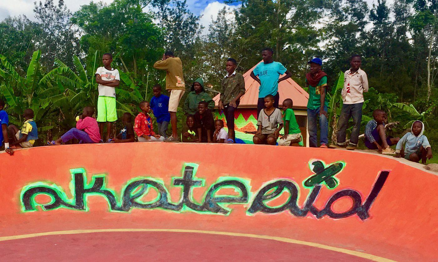 A skateboard tournament in Kigali, Rwanda.