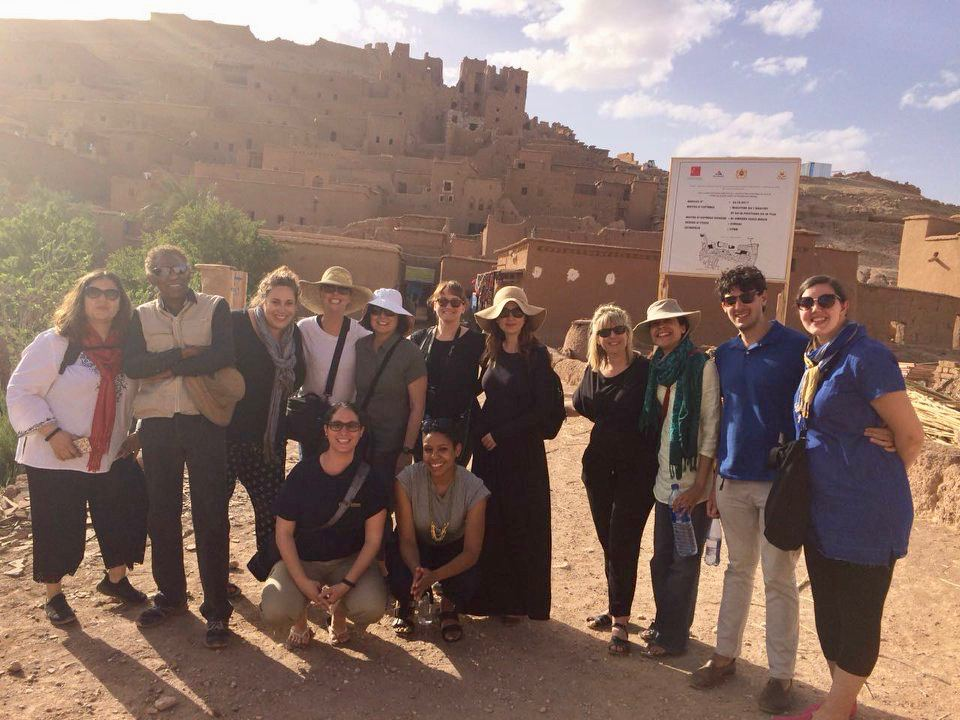 Exploring Morocco on a teacher tour.