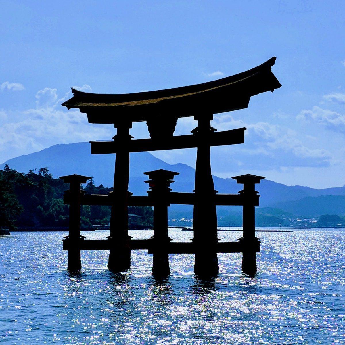 Itsukushima Shrine, the holiest Shinto shrine, on Miyajima Island, Japan.