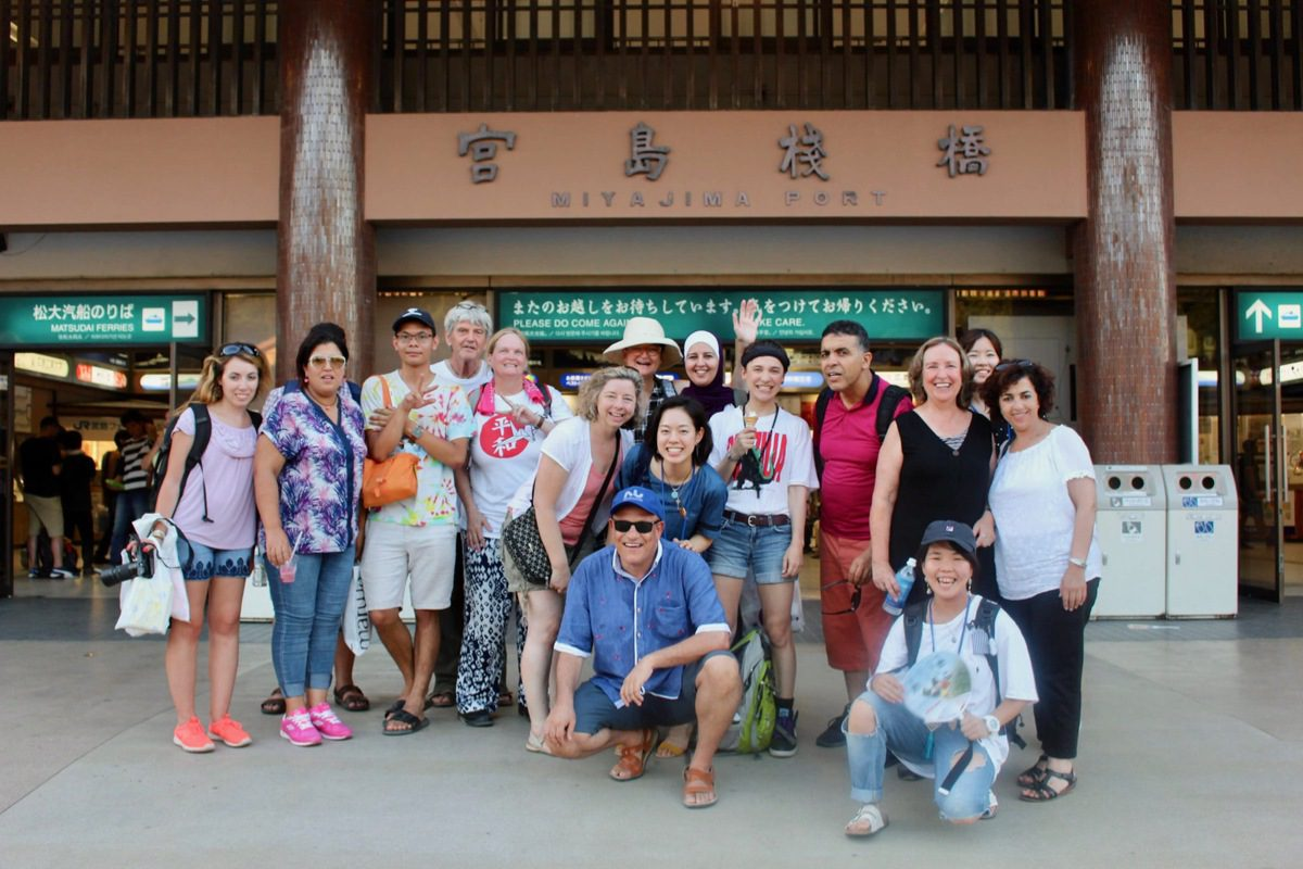 Oleander Initiative participants in Miyajima Island, Japan.