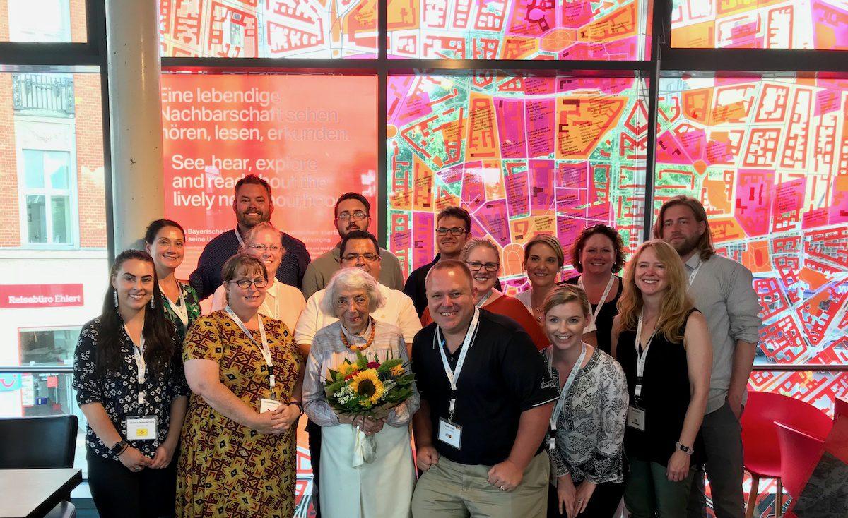 TOP Group 3 2018 with Margot Friedlander (Holocaust survivor).