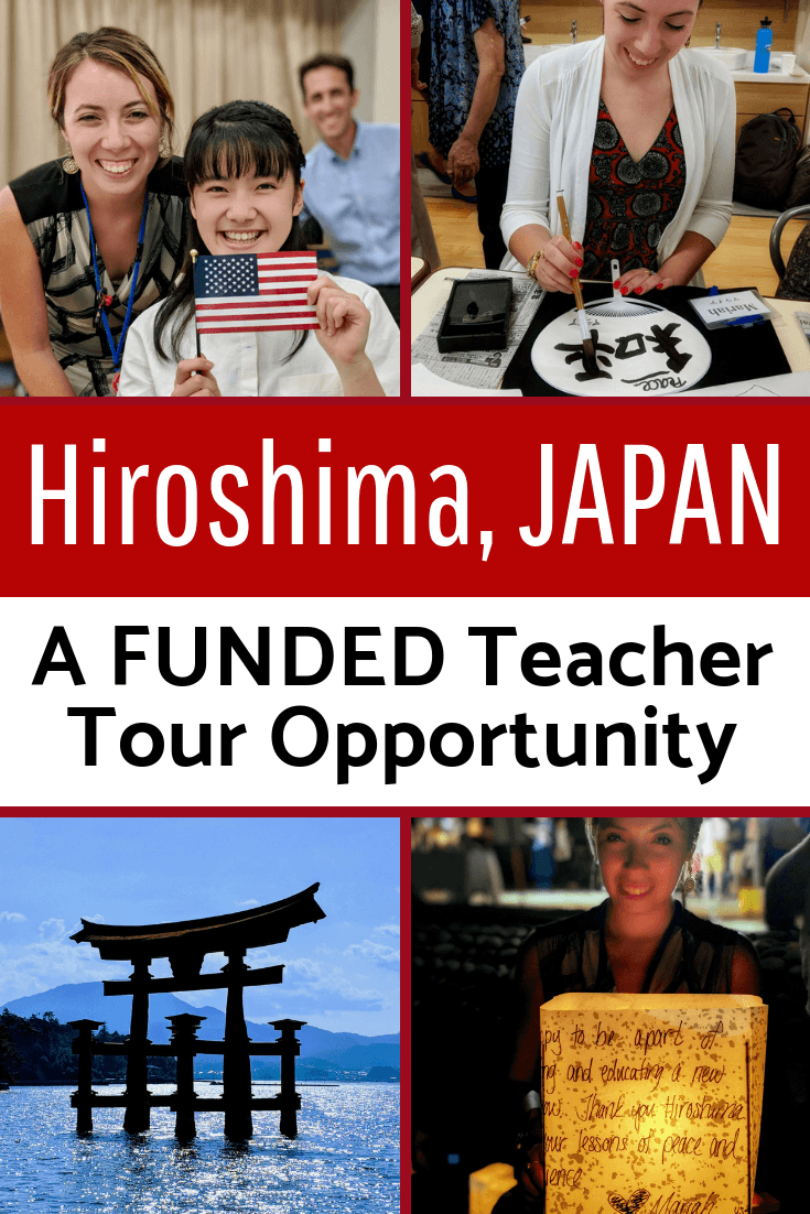 Want a funded summer educator tour of Hiroshima, Japan? The Oleander Initiative brings teachers on an itinerary to study WWII history, peace, and culture.