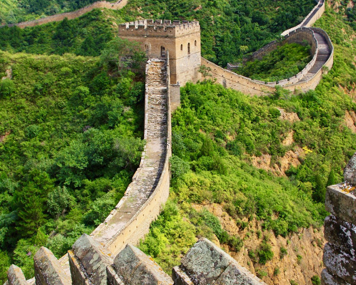The Great Wall of China near Beijing.