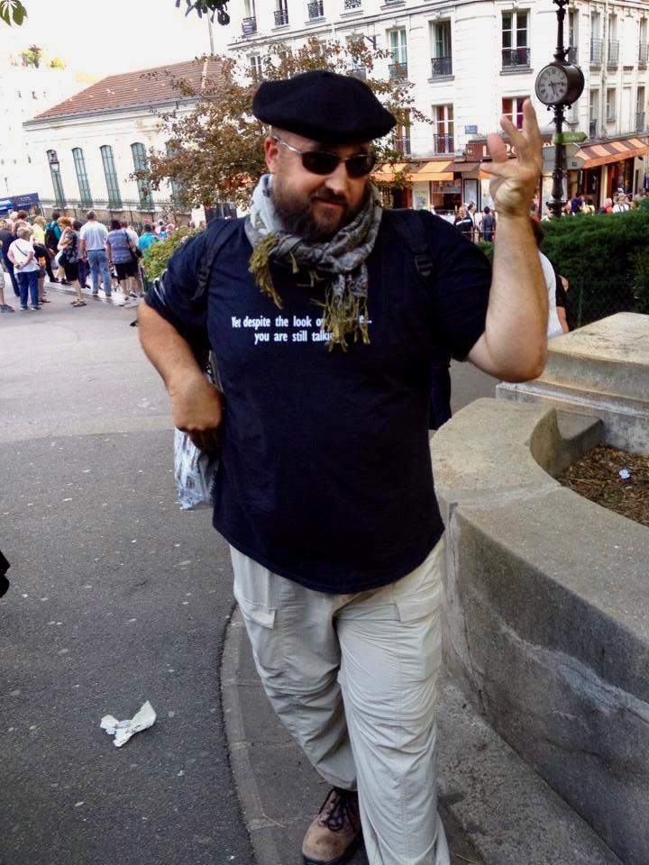 Feeling Parisian in the Montmartre area of Paris.