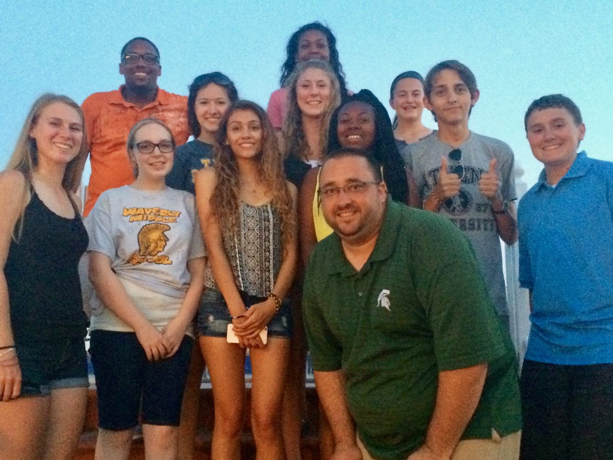 With former AP United States History students on the rooftop of a hotel in Athens.