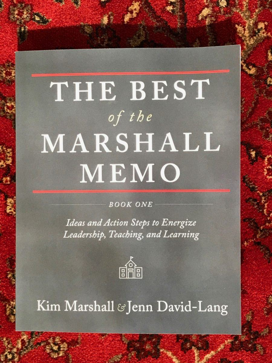Marshall Memo professional development book for school improvement
