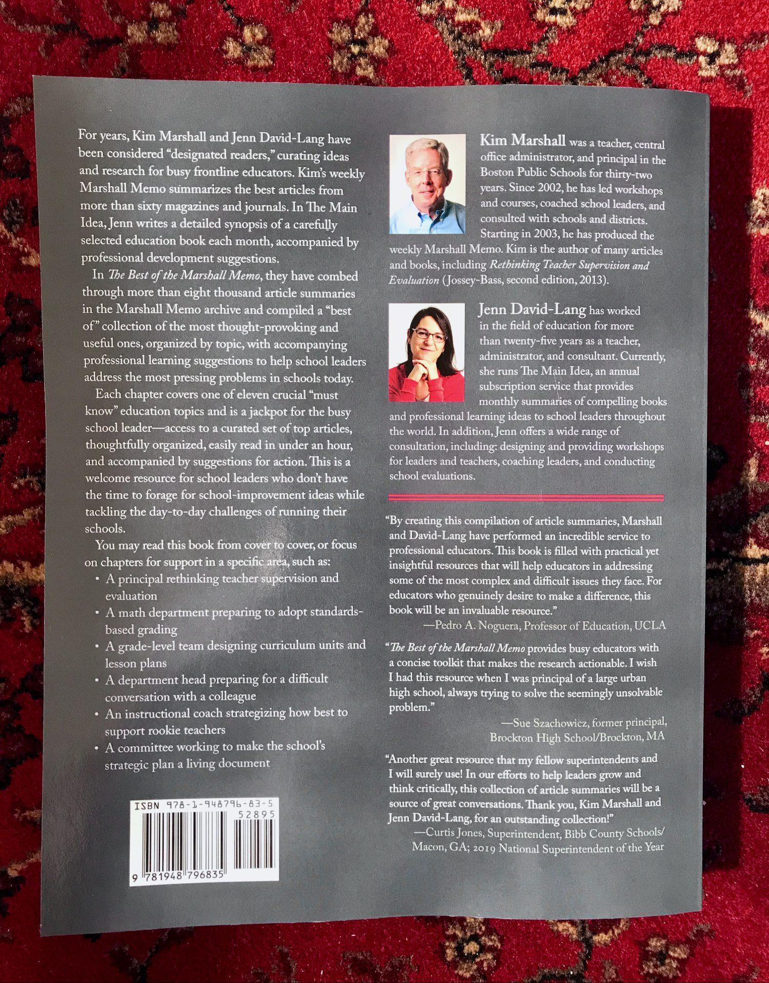Marshall Memo book