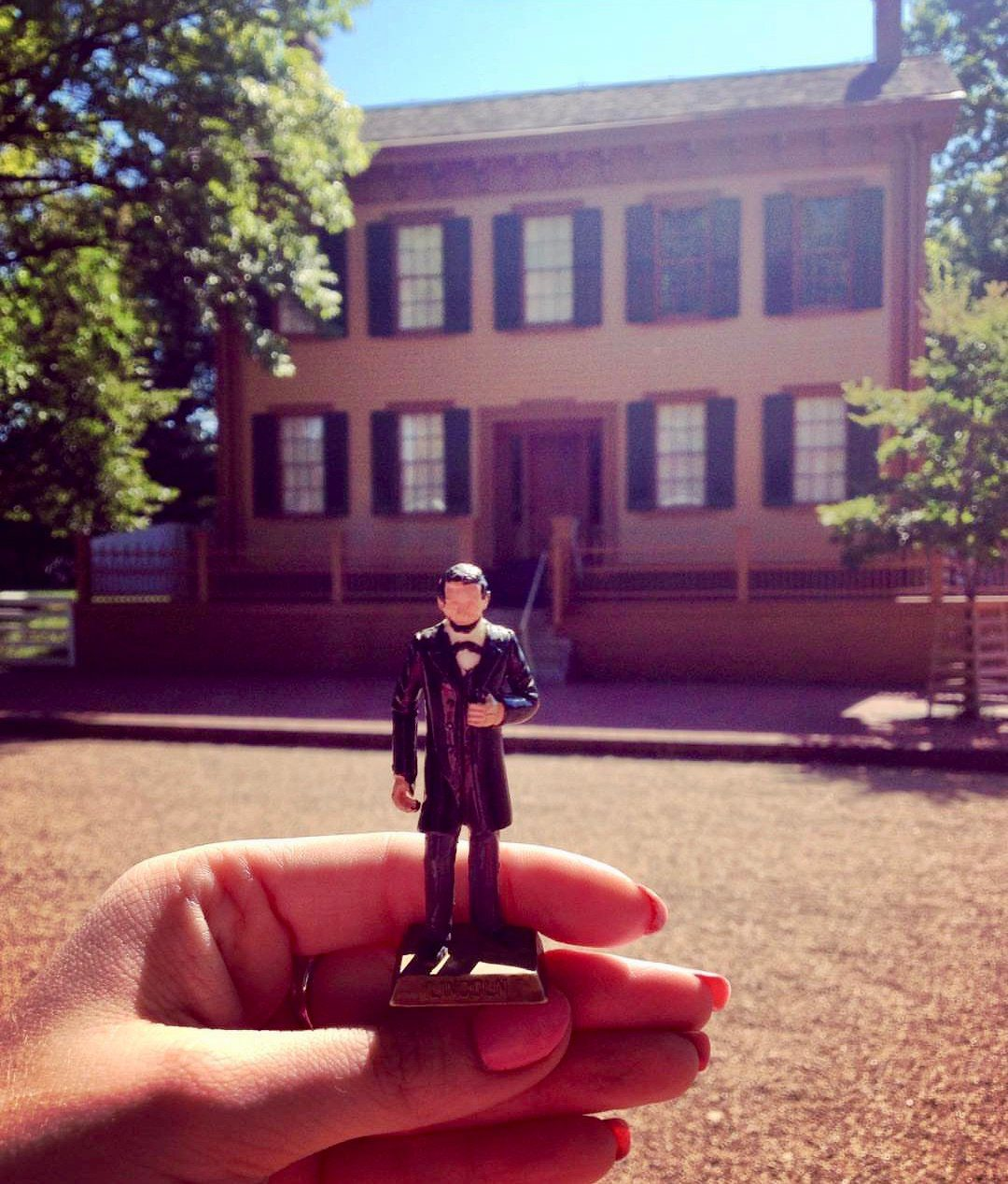 Lincoln house with toy figurine