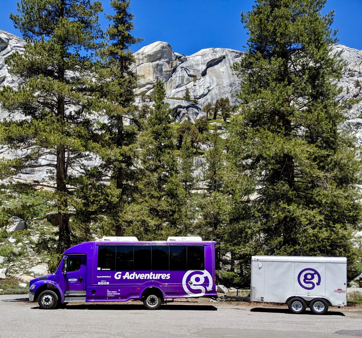 Olmsted Point, Yosemite, with G Adventures Van