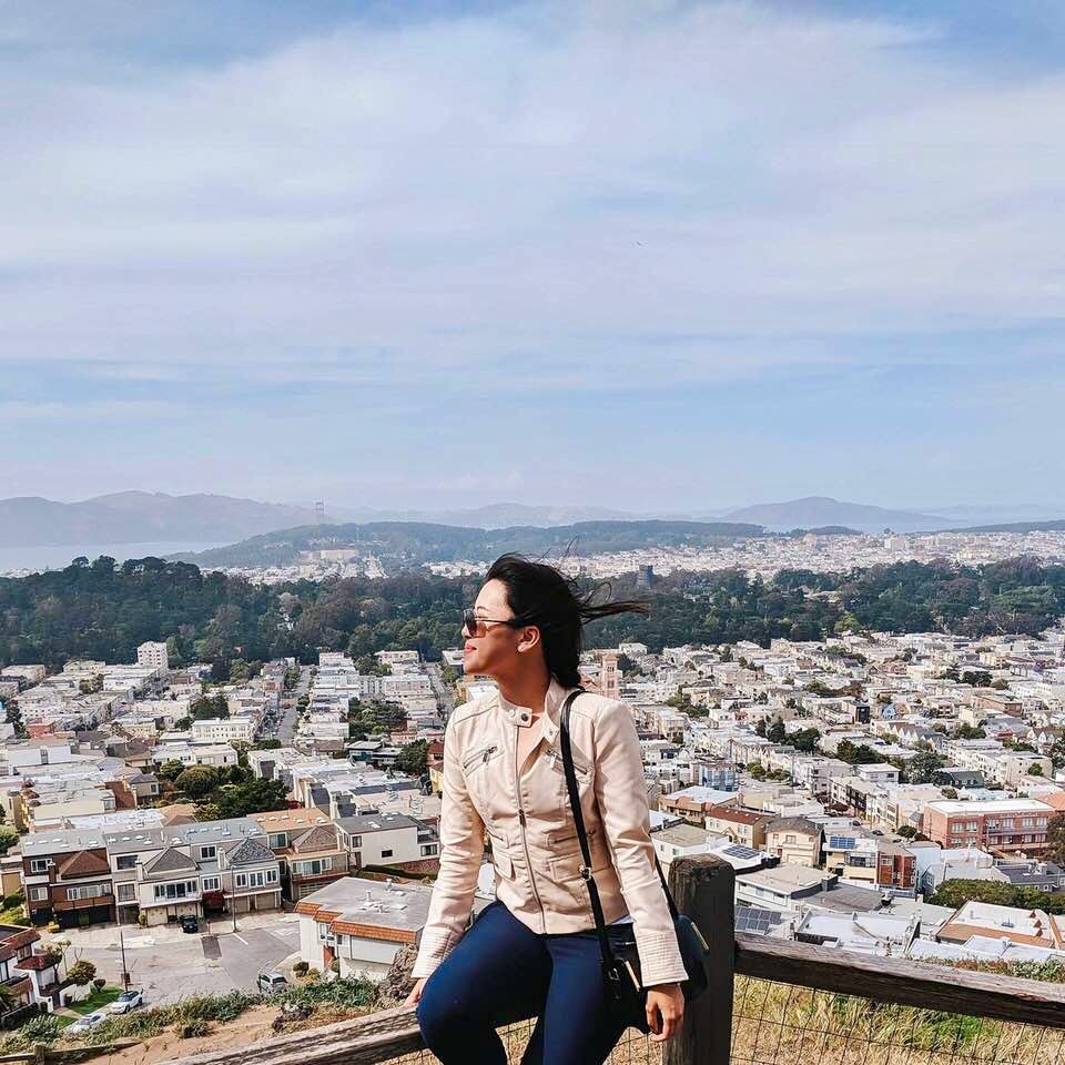 Hieu Vo on her funded trip between DC and San Francisco.