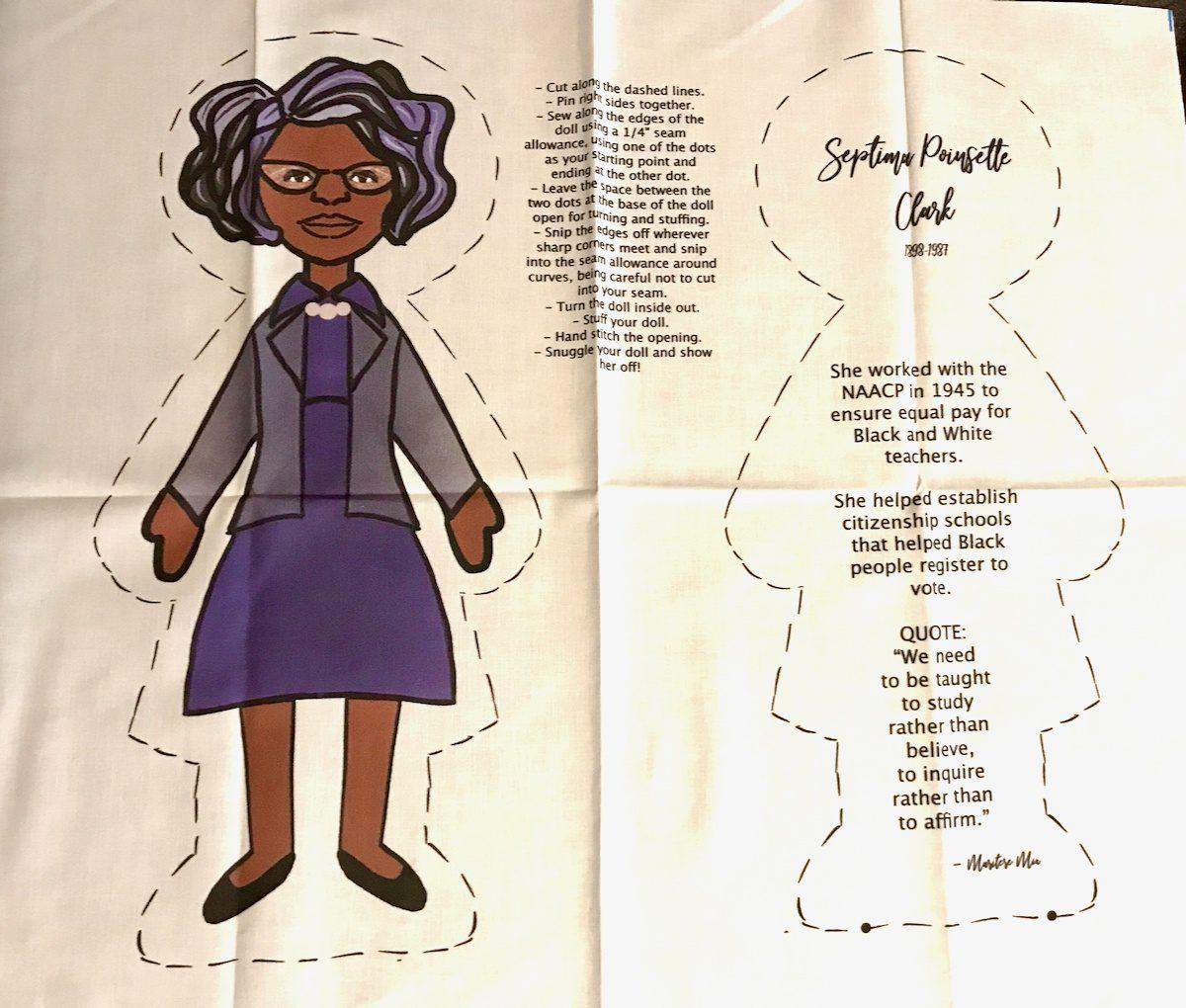 Educational Septima Poinsette-Clark doll